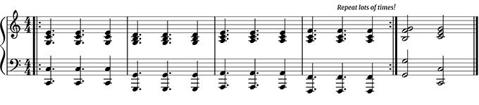 improvisation accompaniment for piano teachers