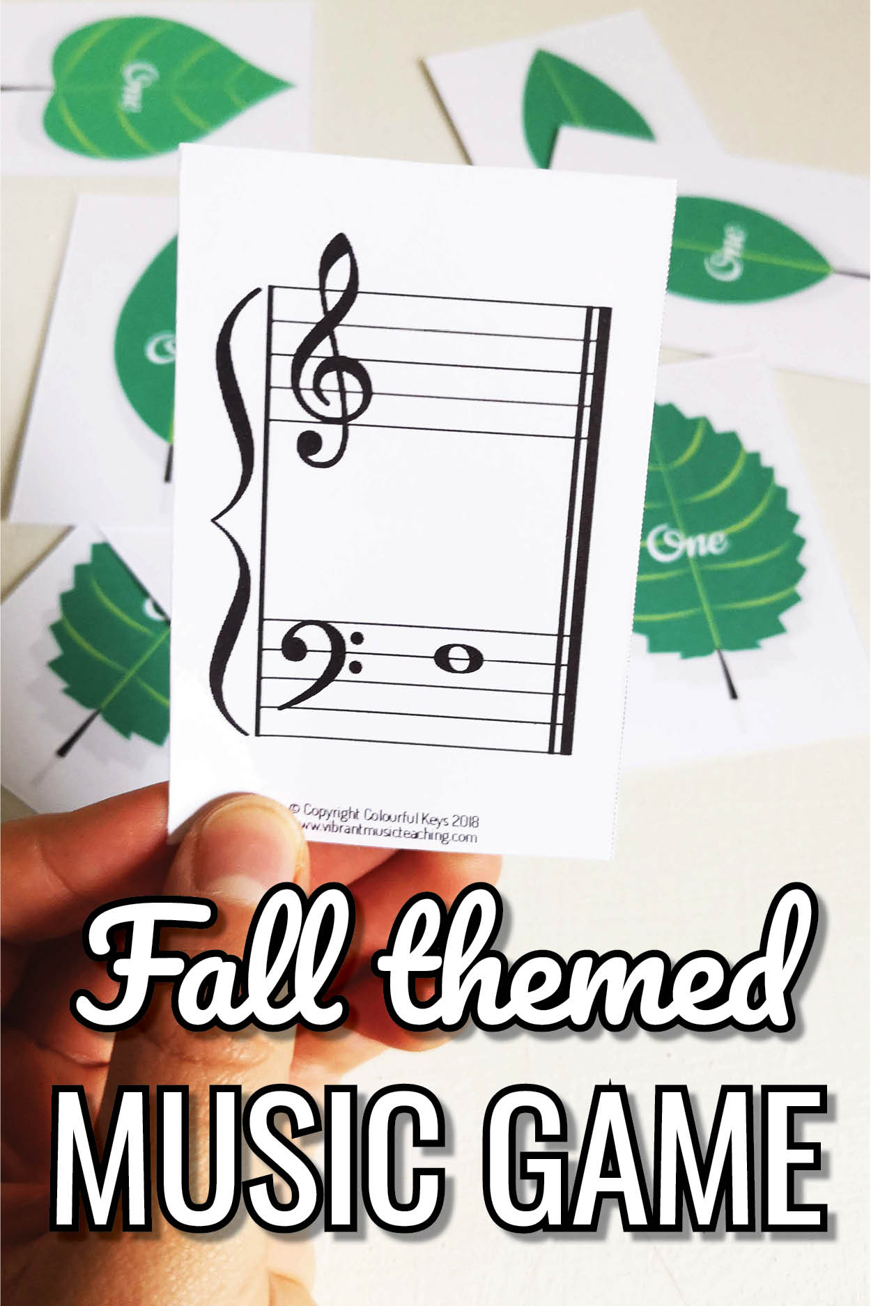 A super fun fall leaves themed music theory game. Perfect for curing September piano forgetfulness!
