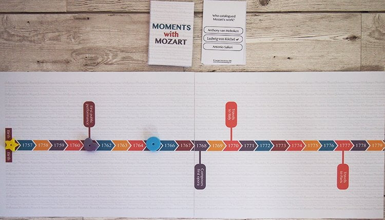 Moments with Mozart music theory game from Vibrant Music Teaching