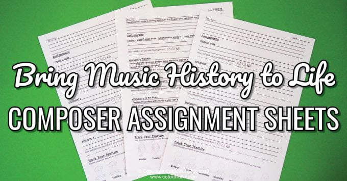 Bringing Music History to Life Part 1- Composer Assignment Sheets
