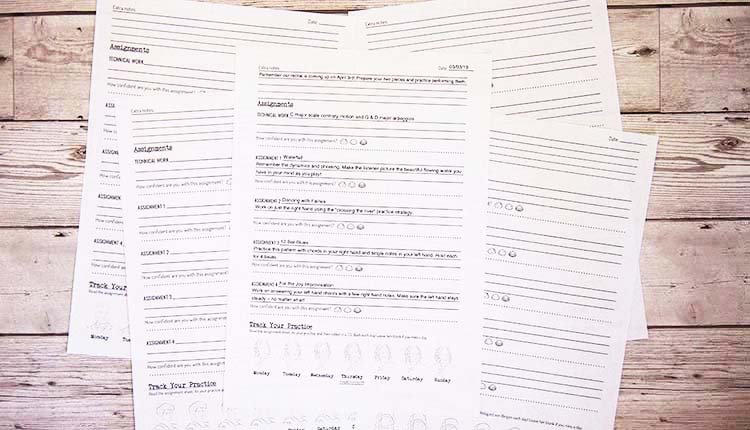 Composer assignment sheets