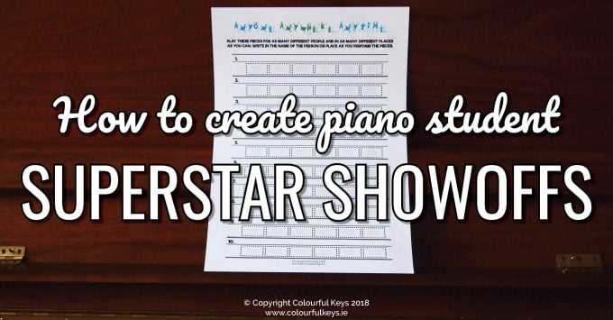 How to Create Piano Student Showoff Superstars2