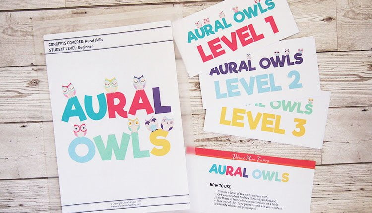 Aural owls music theory game