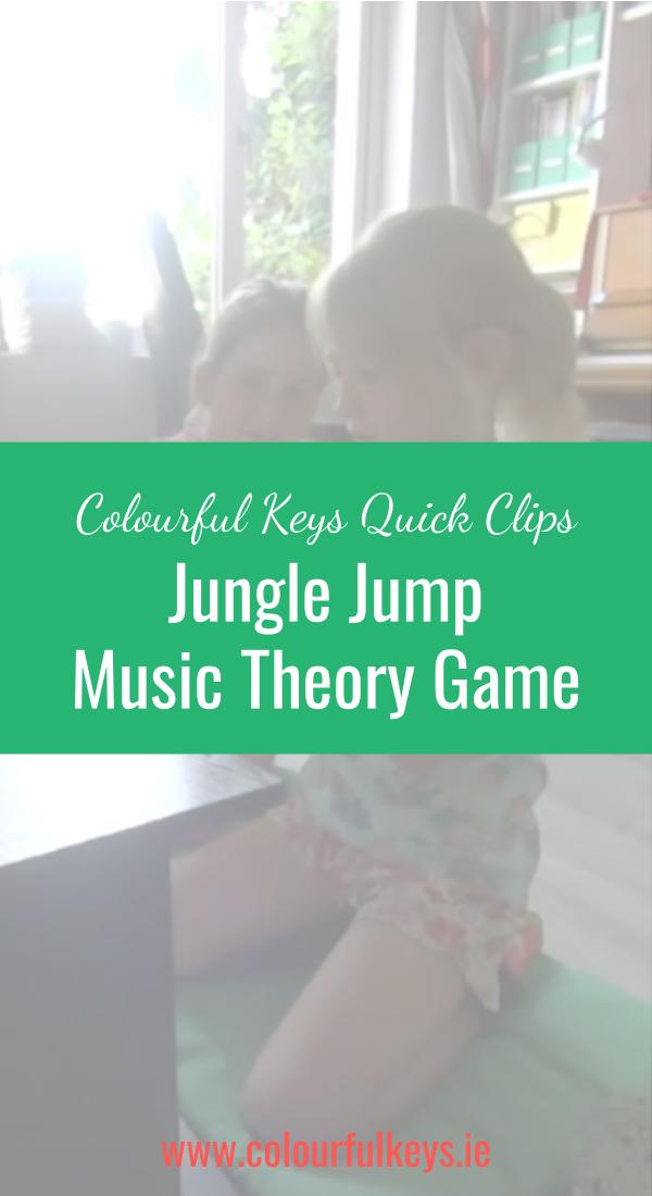 CKQC040_ Jungle Jump game for learning beginning note names Blog Post Image Template Pinterest