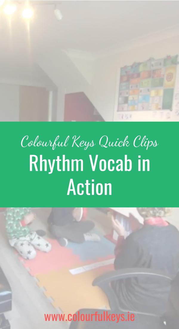 CKQC047_ How to use the Rhythm Vocab cards Image Template Pinterest