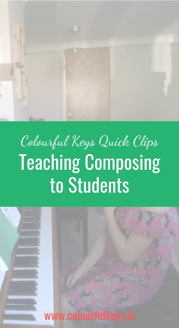 CKQC048_ Working on harmony in a student's composition Image Template Pinterest