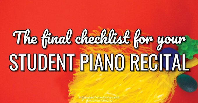 Step-by-Step to a Fantastic Piano Recital (Part 2)