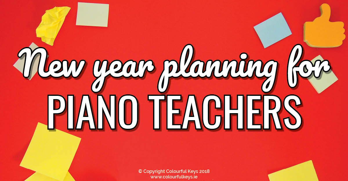 2019 Planning for Piano Teachers
