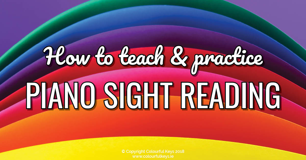 How to teach piano sight reading with a rainbow