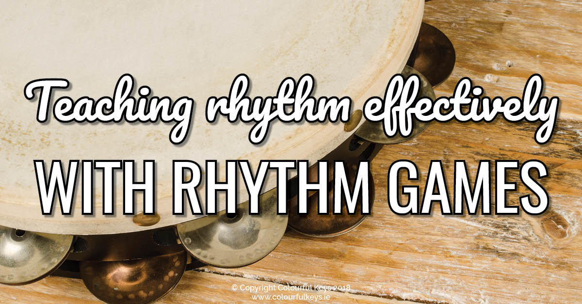 A simple rhythm game for your piano lessons