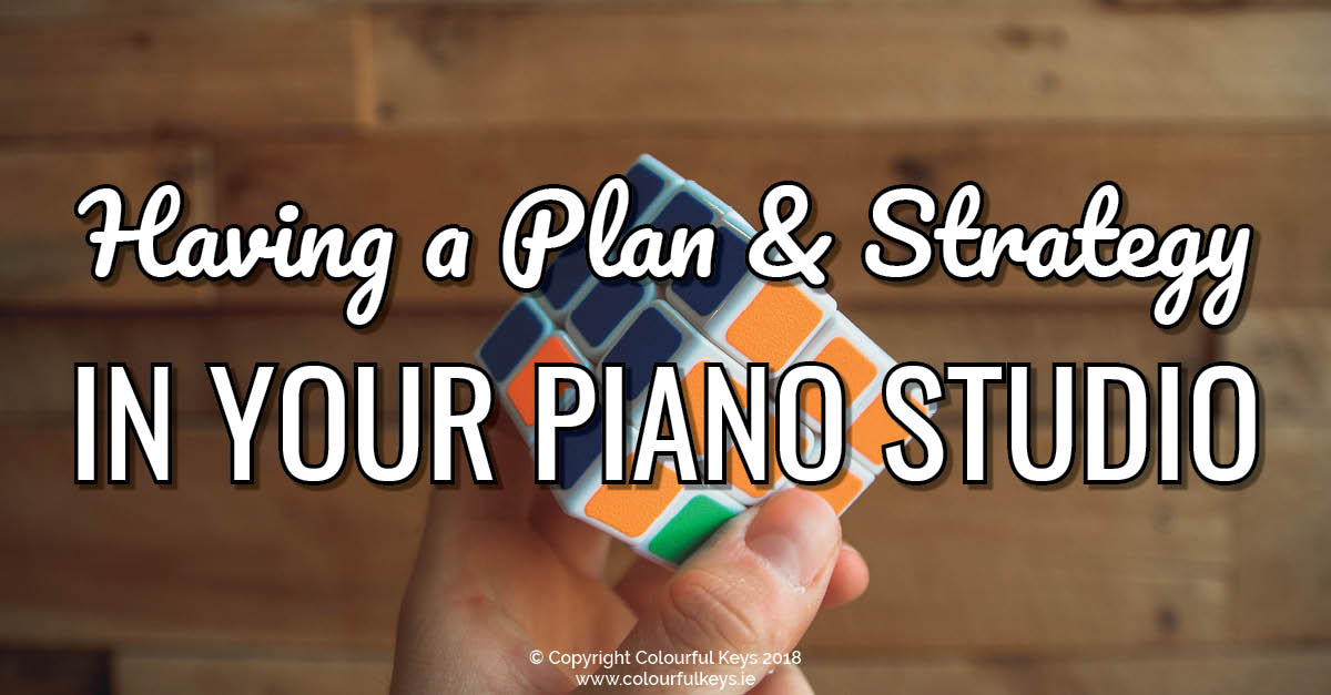 Planning for piano teachers