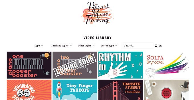 Vibrant Music Teaching video library