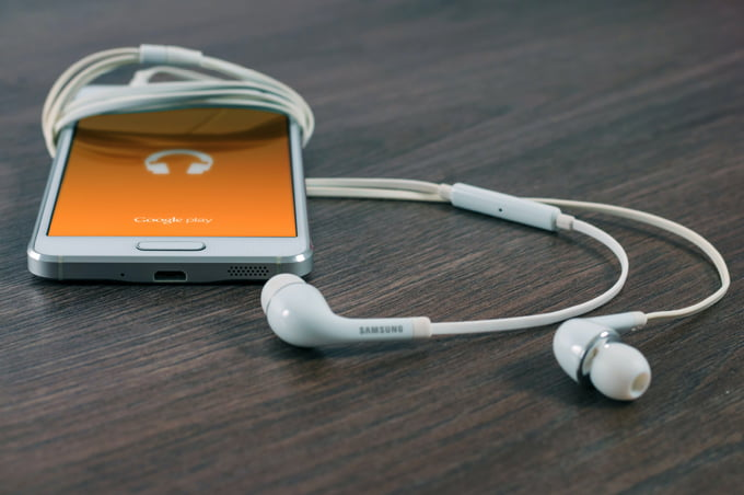 iPod with music