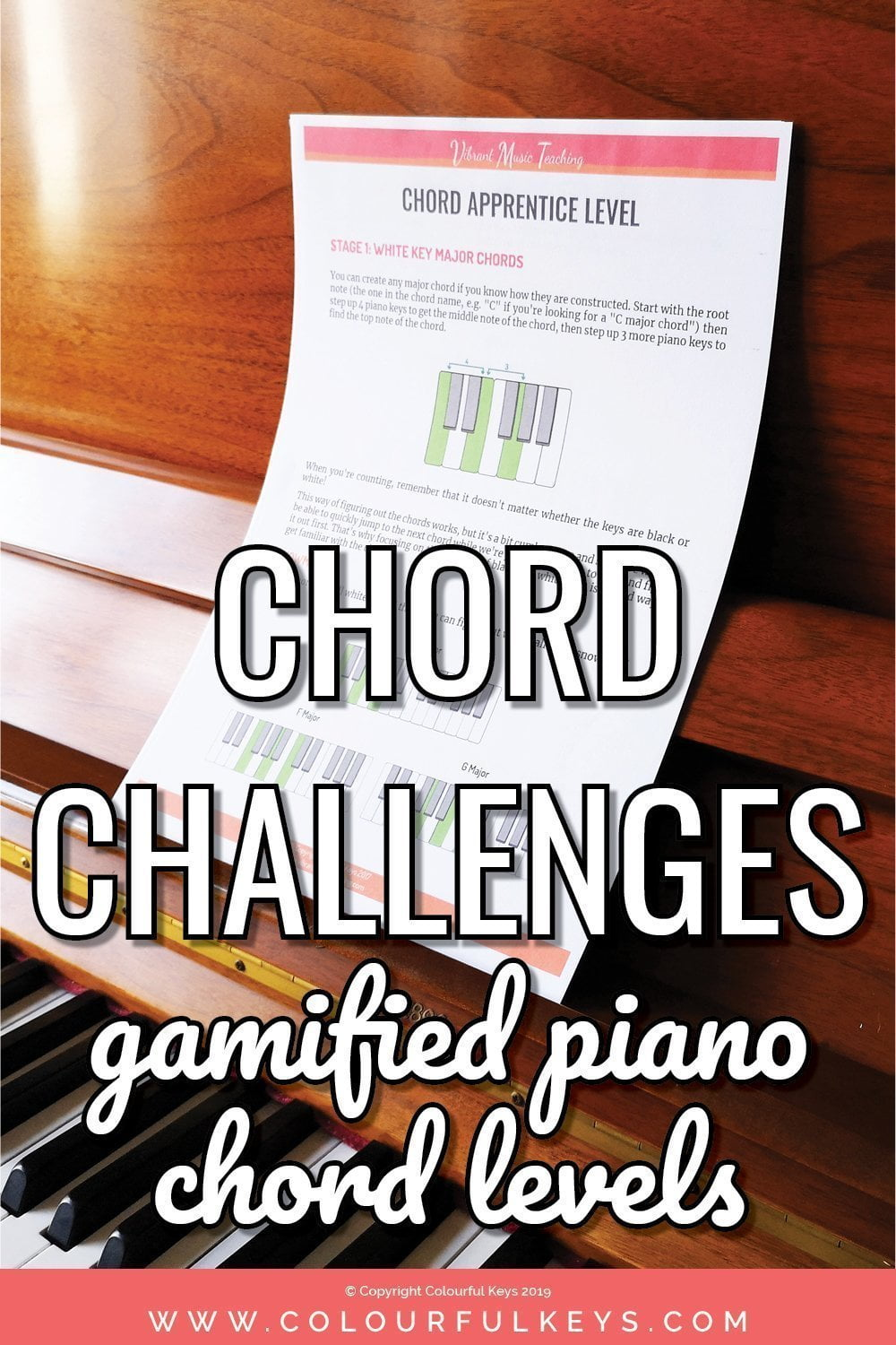 How to teach piano chords - with a free booklet to help you level-up your chord teaching!