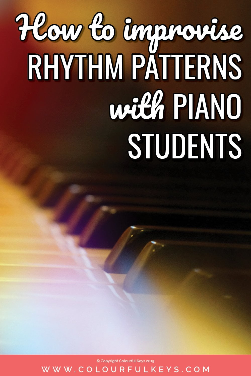 How to use improvisation in your piano lessons to teach rhythm skills - two ideas to try!