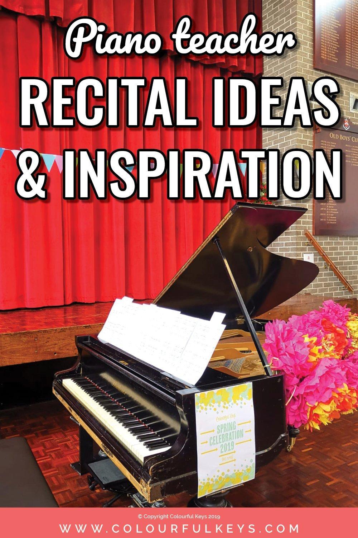 Piano recital ideas for piano teachers