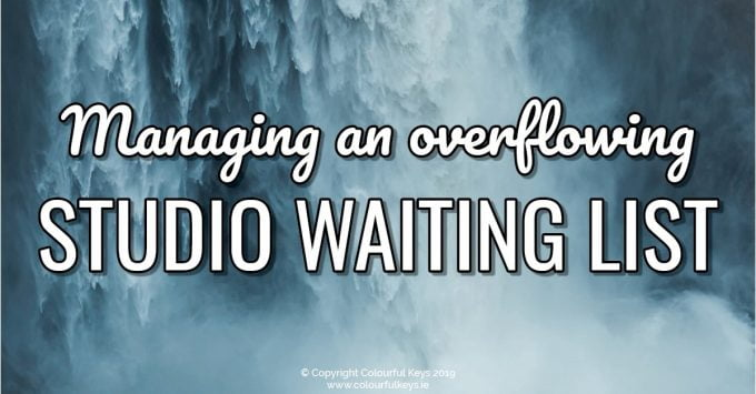 What to do with an overflowing music studio waiting list2