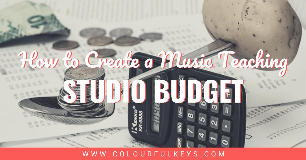 How to create a music teaching studio budget