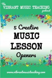 VMT064 5 Creative Music Lesson Openers Portrait