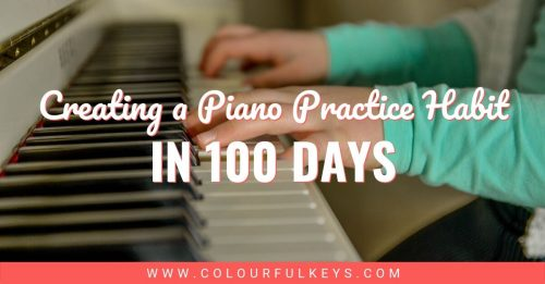 100 Days Piano Practice Habit