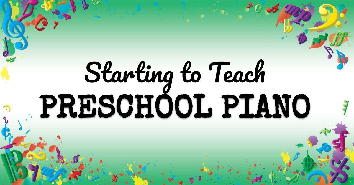 VMT068 Starting to Teach Preschool Piano