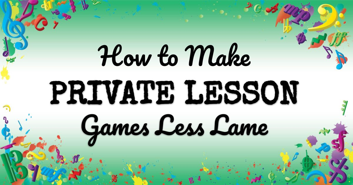 VMT089 How to Make Private Lesson Games Less Lame