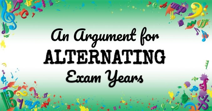 VMT090 An Argument for Alternating Exam Years