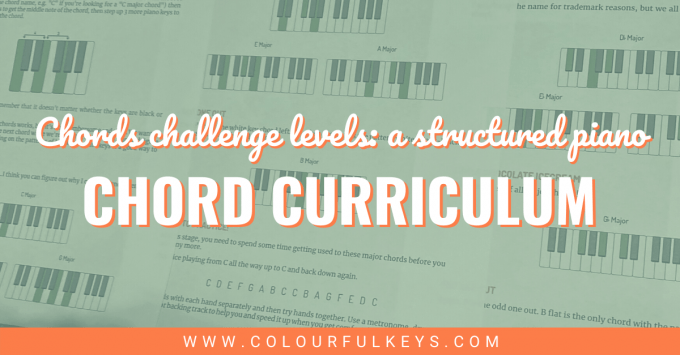 Chords Challenge Levels A Structured Piano Chord Curriculum 2