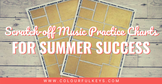 Scratch-off Music Practice Charts for Summer Success ...