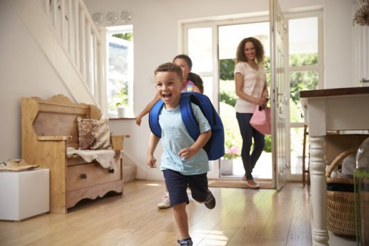 Excited Children Returning to Piano Lessons