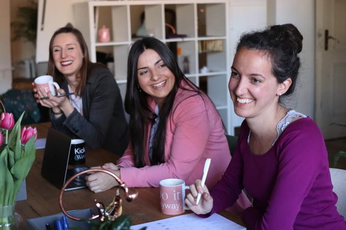 women at practice workshop