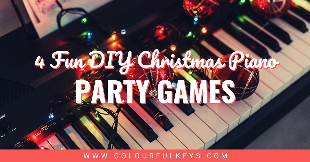 4 Fun DIY Christmas Piano Party Games facebook 1