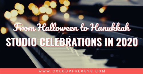Creative Piano Studio Celebrations - From Halloween to Hanukkah