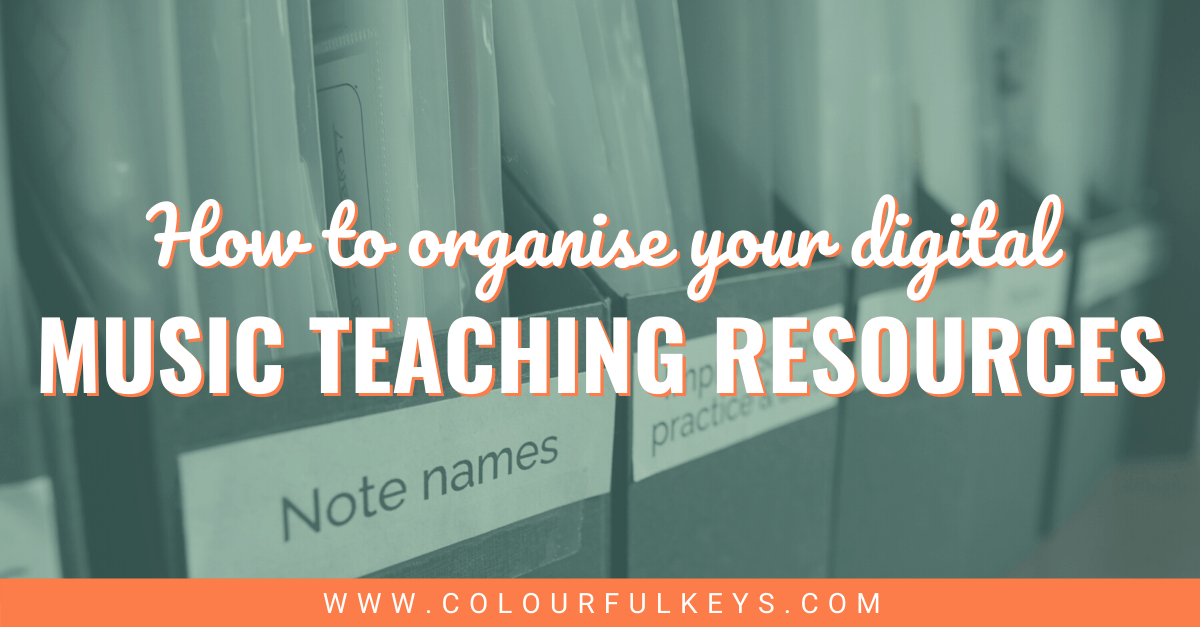 How to Organise Digital Music Teaching Resources Facebook 2