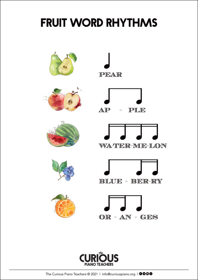rhythm activity flashcards for online lessons
