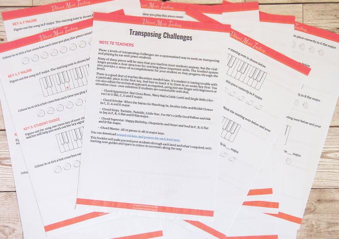transposing challenge booklet