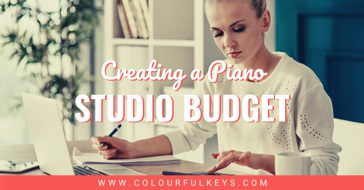 How to Create a Piano Studio Budget Facebook 1