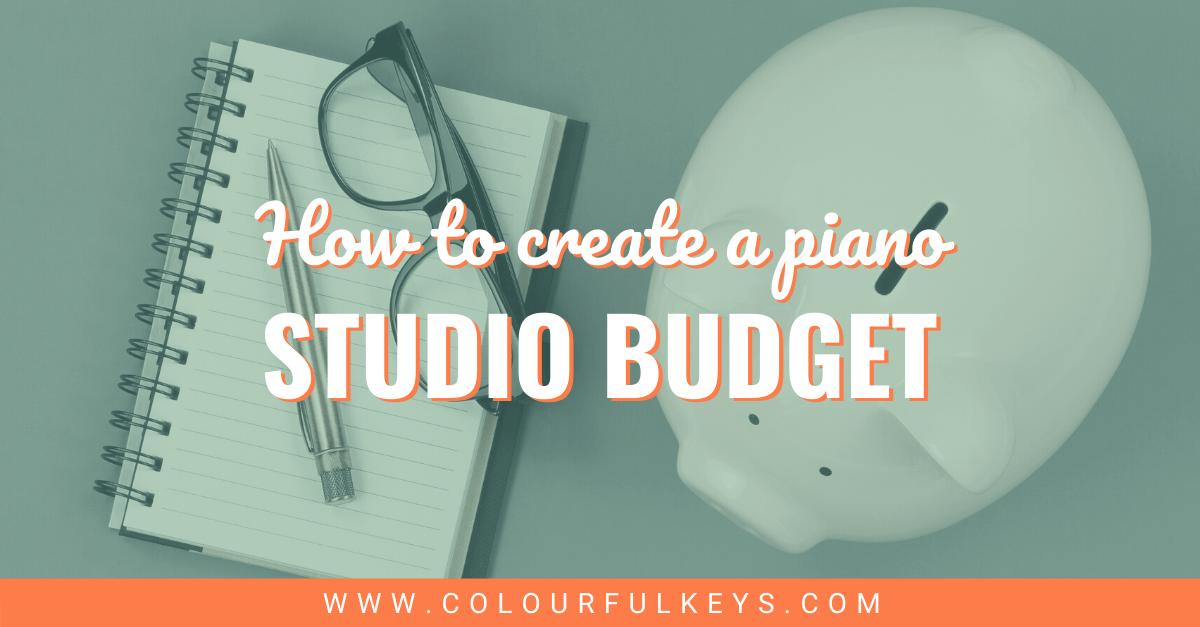 How to Create a Piano Studio Budget Facebook 2