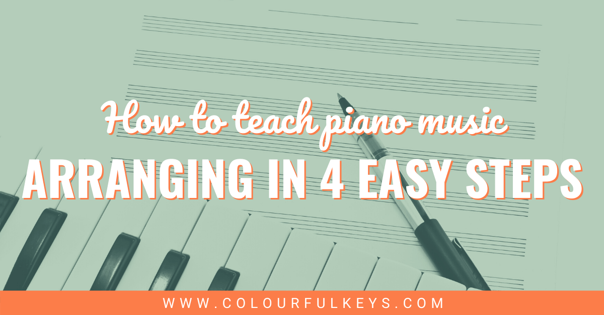 Teaching Piano Music Arranging in 4 Easy Steps facebook 2