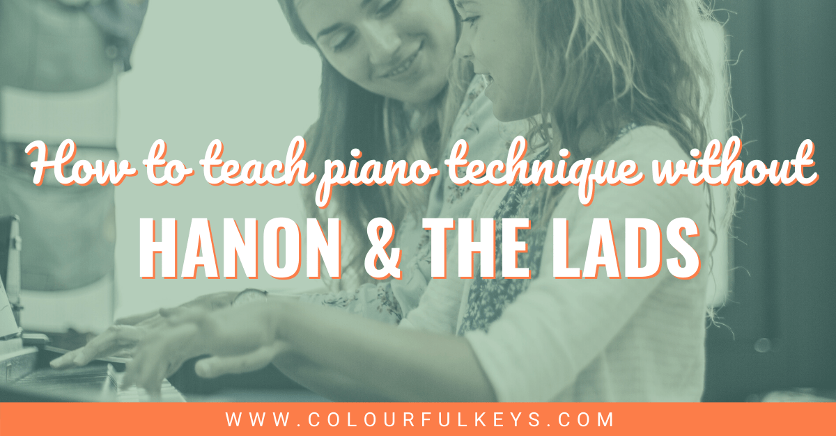 How to Teach Piano Technique without Hanon and the Lads facebook 2