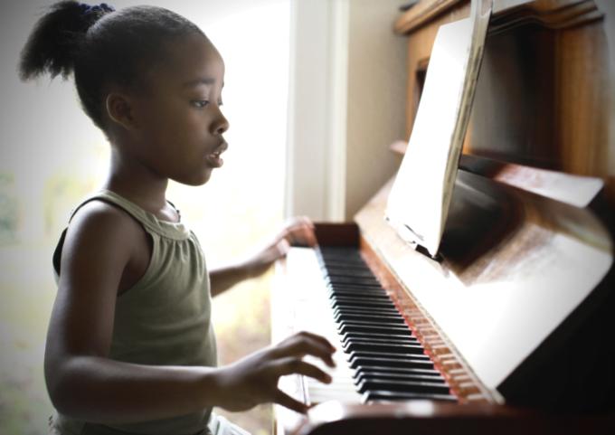 intense piano practice